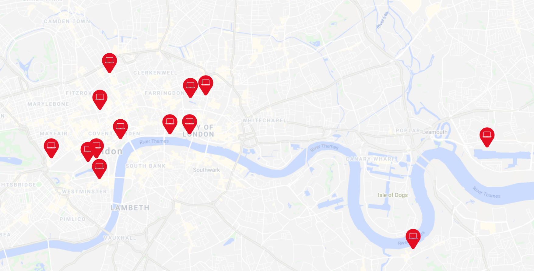 Virtually Live London Venue Map