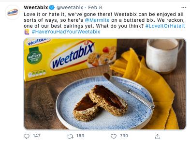 weetabix campaign social